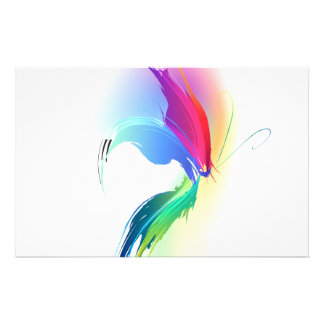 Abstract Paint Splatter Butterfly Customised Stationery