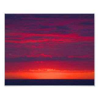 Abstract Purple and Orange Sunset Photograph