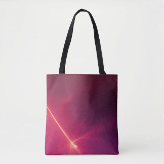 Abstract Purple Light Wave Tote Bag
