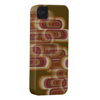 Abstract Purple Retro Pods Glow iPhone 4 CaseMate iPhone 4 Cover