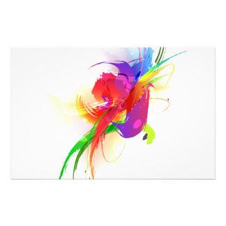 Abstract Rainbow Lorikeet Paint Splatters Stationery