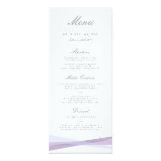 Abstract Ribbons Wedding Dinner Menu - Purple 10 Cm X 24 Cm Invitation Card