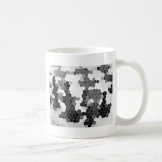 Abstract Stained Glass Black White Grey Mosaic Basic White Mug