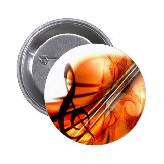 Abstract Violin Art 6 Cm Round Badge
