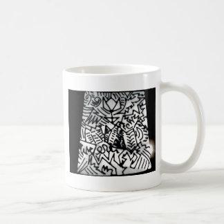 Abstract White/Black Design #1 Basic White Mug
