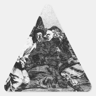 Absurdity of Carnival by Francisco Goya Triangle Sticker