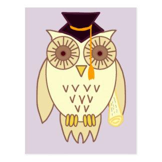 Academic Owl Postcard