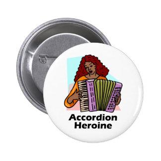 Accordion Heroine 6 Cm Round Badge