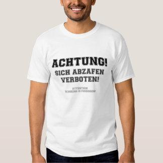 ACHTUNG - WANKING FORBIDDEN SHIRT