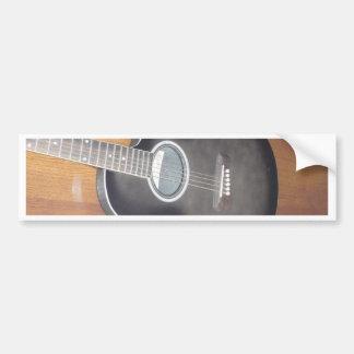 Acoustic Electric Guitar Bumper Sticker
