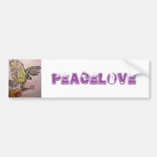 Acoustic Fish Hawk (PeaceLove) Bumper Sticker