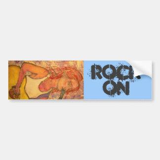 Acoustic Girl Rock On Bumper Sticker