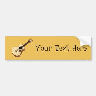 acoustic guitar art bumper sticker
