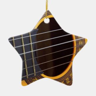 Acoustic Guitar Detail Ceramic Star Decoration
