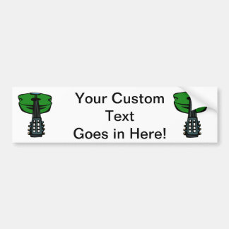acoustic guitar head on green.png bumper sticker
