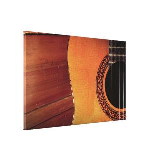 Acoustic Guitar Stretched Canvas Prints