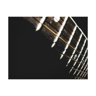Acoustic Guitar Strings/Frets Canvas Print