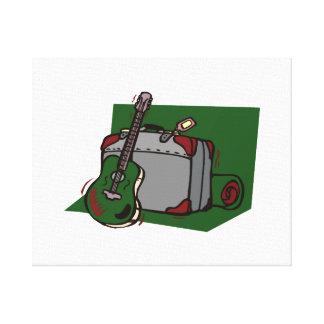acoustic guitar suitcase green.png canvas prints
