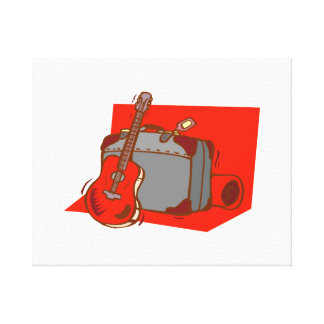 acoustic guitar suitcase red.png gallery wrapped canvas