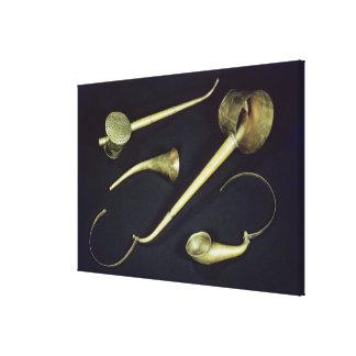 Acoustic instruments cornets canvas prints