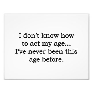 Acting My Age Photo