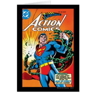 Action Comics #485 Greeting Card