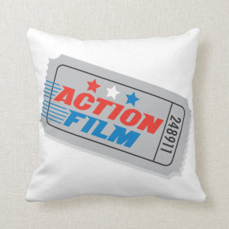 Action Film Movie Ticket Pillow — Square Cushion