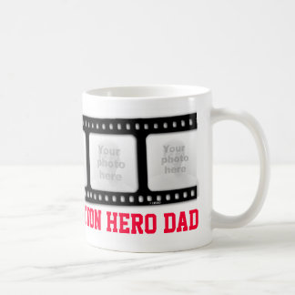 Action hero Dad 5 photos film strip mug