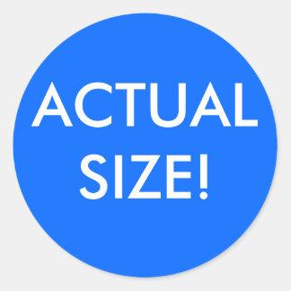 Actual Size Round Sticker