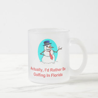 Actually, I'd Rather Be Golfing In Florida Frosted Glass Mug