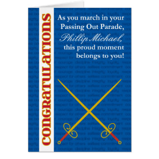 Add Any Name Custom Passing Out Congratulations Greeting Card
