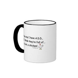 ADD Full of Chickens (both sides) Ringer Mug