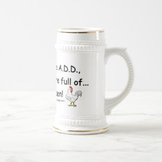 ADD Full of Chickens Humor Beer Steins