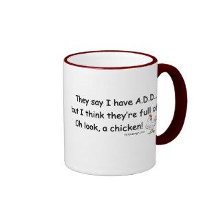 ADD Full of Chickens Ringer Mug