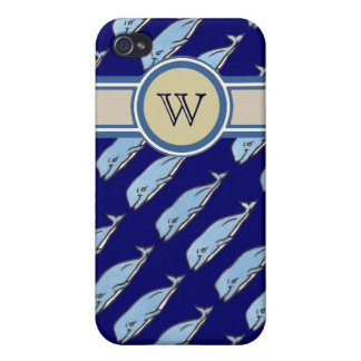 add initial to whales pern case for iPhone 4