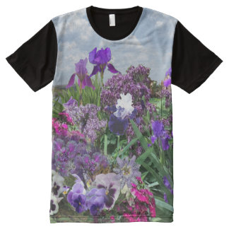 add your image Shades of purple t-shirt All-Over Print T-Shirt