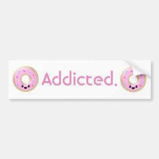 """Addicted."" Donuts Bumper Sticker"