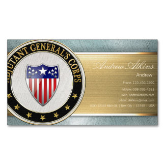 Adjutant General's Corps Branch Insignia [3D] Magnetic Business Cards