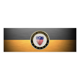 Adjutant General's Corps Branch Insignia [3D] Pack Of Skinny Business Cards