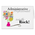 Administrative Professionals Rock! (card) Greeting Card