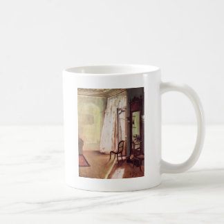 Adolph von Menzel Balcony Room Basic White Mug