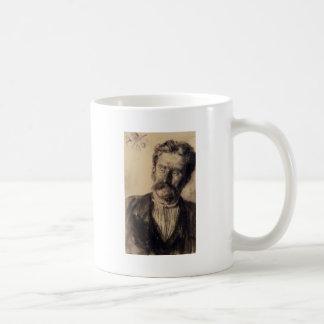 Adolph von Menzel Head Of A Man Basic White Mug
