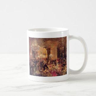 Adolph von Menzel Supper at the Ball Basic White Mug