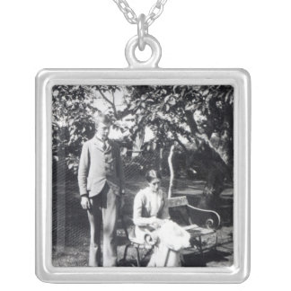 Adrian and Virginia Stephen, 1900 Square Pendant Necklace
