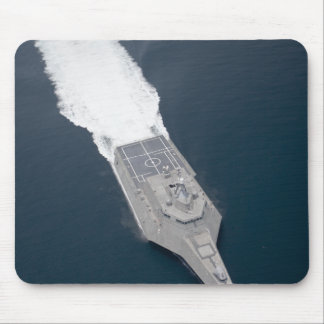 Aerial view of the littoral combat ship mouse pad