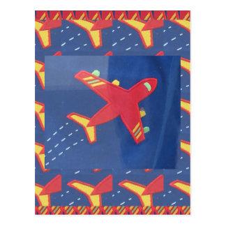 Aeroplane Aircraft Flight Travel Picnic Holidays Postcard