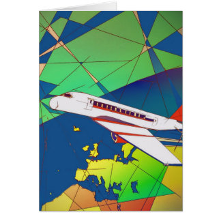 Aeroplane/airplane birthday/greeting card