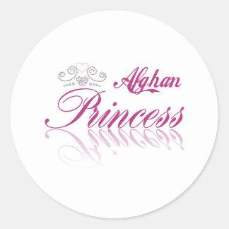 Afghan Princess Round Sticker