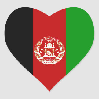 Afghanistan Flag Heart Sticker
