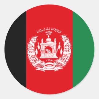 Afghanistan Flag Round Sticker